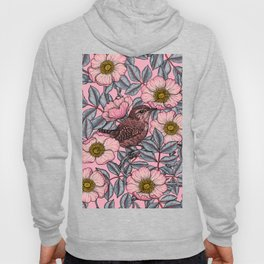 Wrens in the roses Hoody