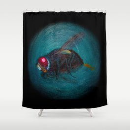 Dead Fly Shower Curtain