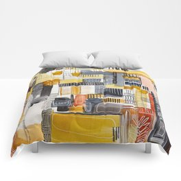 Autumn Rituals Abstract Painting Comforters