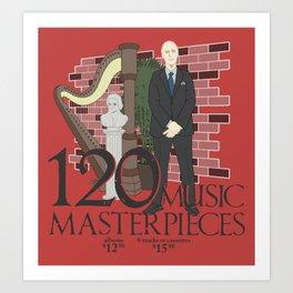 120 Music Masterpieces Art Print