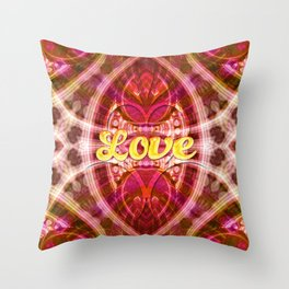 Tribal Love Geometry (Pinks) Throw Pillow