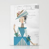 marie antoinette Stationery Cards featuring Marie Antoinette by Mrwilliam Draw