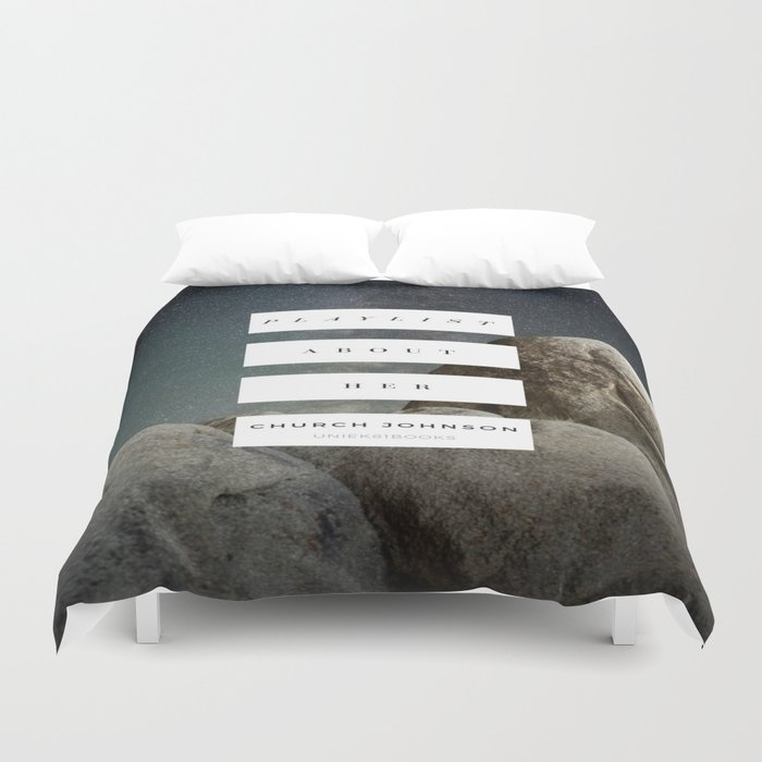 Playlist About Her Duvet Cover