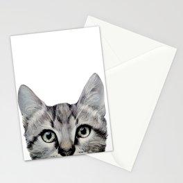 Cat, American Short hair, illustration original painting print Stationery Cards
