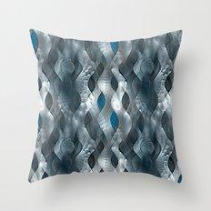 Silver Tide Throw Pillow
