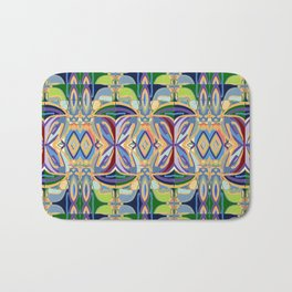 Butterfly mosaic - brightly colored pattern Bath Mat