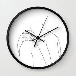 Woman's body line drawing illustration - Cathy Wall Clock