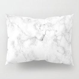 Marble pattern on white background Pillow Sham