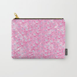 Hand painted pink blue watercolor hortensia floral Carry-All Pouch
