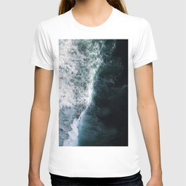 Oceanscape - White and Blue T-shirt
