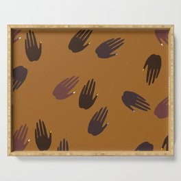 Melanin Hands Serving Tray