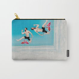 jumping over flamingoes Carry-All Pouch