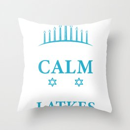Keep Calm And Eat Latkes Pancake Lover And Jew Gift Throw Pillow