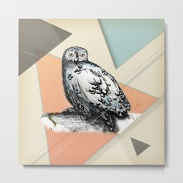 Owl McSit by carographic Metal Print