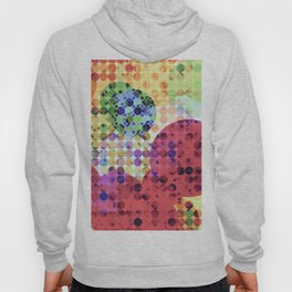 geometric circle pattern abstract background in red pink yellow orange green Hoody