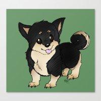 shiba inu Canvas Prints featuring Shiba Inu by eddiesketti