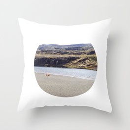 In the middle of nowhere, Iceland Throw Pillow
