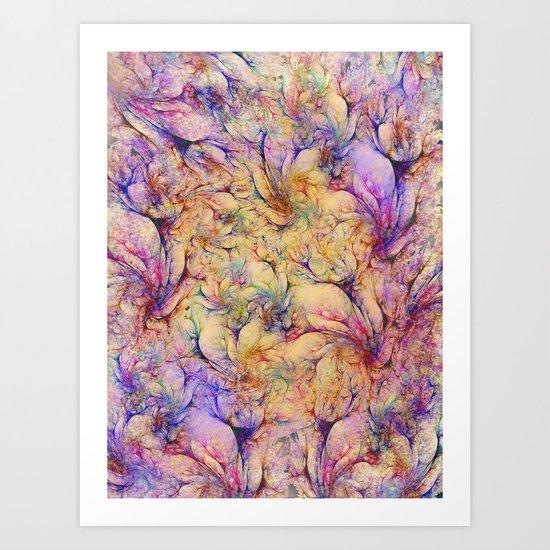 Nudes in Flowers Art Print