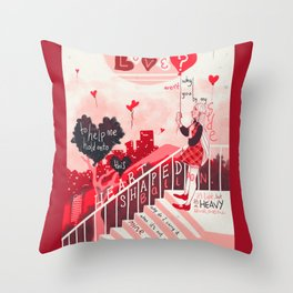 Heart Shaped Balloon Throw Pillow