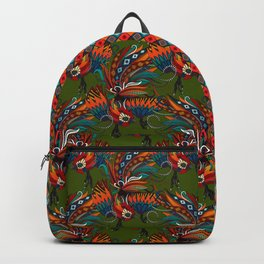 rooster ink green Backpack