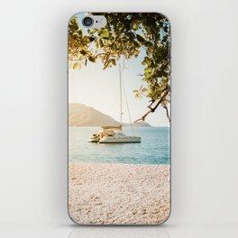 Fitzroy Island Catamaran | Cairns Australia Tropical Beach Sunset Photography iPhone Skin