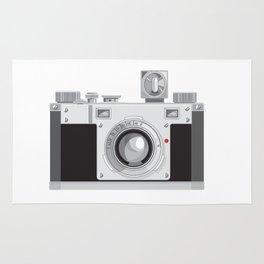 Vintage 35mm Film Camera Retro Style Rug