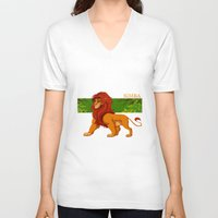 simba V-neck T-shirts featuring Simba, the lion king by lulu555