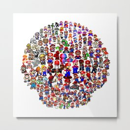 Super Mario evolution 2 Metal Print