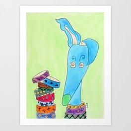 Collar addict Art Print