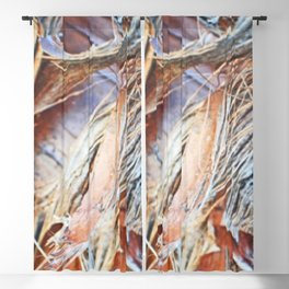 Abstract Driftwood Blackout Curtain