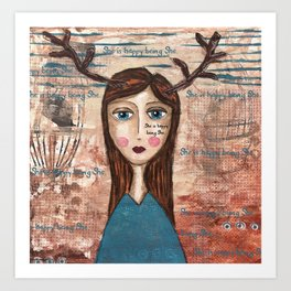 Coco's Closet- She is happy being She Art Print