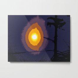 Twilight Rigging Metal Print