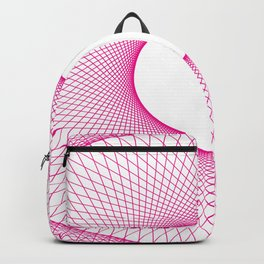 PINK GUILLOCHE Abstract Art Backpack