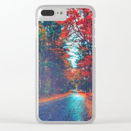Autumn Way Clear iPhone Case
