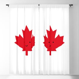 Happy Canada Day Maple Leaf (Red) Blackout Curtain
