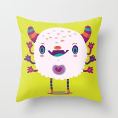 Puffy monster Throw Pillow