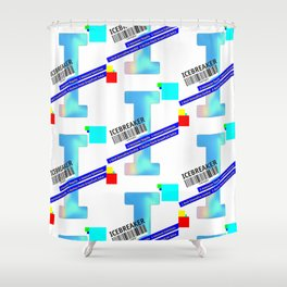 "Cocktail ""I"" - Icebreaker Shower Curtain"