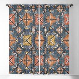 Mexican Tile Blackout Curtain