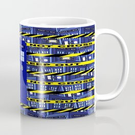 Tardis Yellow Line Coffee Mug