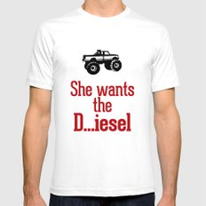 She wants the D...iesel White Mens Fitted Tee SMALL