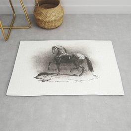"""Théodore Géricault """"Dappled Horse"""" Rug"""
