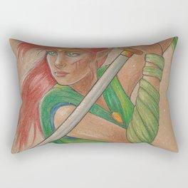 Elven Warrior Rectangular Pillow