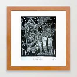 You sent me to hell Framed Art Print