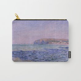 Shadows on the Sea. The Cliffs at Pourville by Claude Monet Carry-All Pouch
