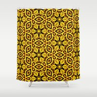 damask Shower Curtains featuring vintage damask by clemm