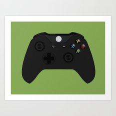 Wireless Gaming Controller Art Print