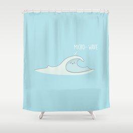 Micro-Wave #kawaii #wave Shower Curtain