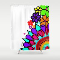 creativity Shower Curtains featuring creativity by AliRodriguez