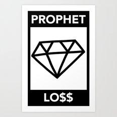 P&Ls: Diamond Black Art Print