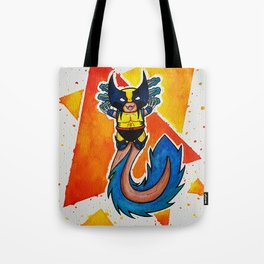 Axolotl Wolverinee Cute Little Cosplayer (visually textured version) Tote Bag